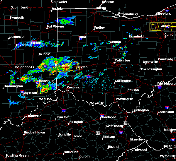 Radar Image for Severe Thunderstorms near Richmond, IN at 3/28/2020 1:27 PM EDT