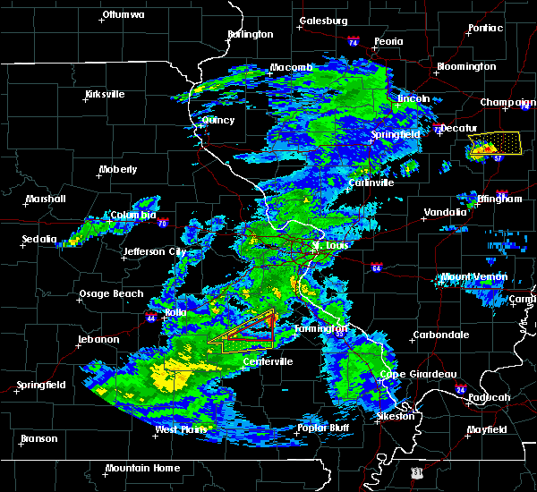 Radar Image for Severe Thunderstorms near Irondale, MO at 3/28/2020 12:39 PM CDT