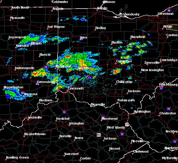 Radar Image for Severe Thunderstorms near Springfield, OH at 3/28/2020 1:53 PM EDT