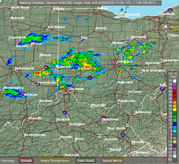 Radar Image for Severe Thunderstorms near South Solon, OH at 3/28/2020 2:01 PM EDT