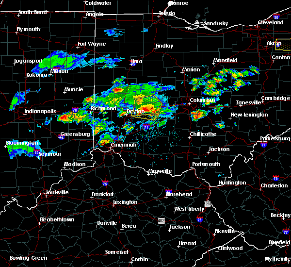 Radar Image for Severe Thunderstorms near Springfield, OH at 3/28/2020 2:02 PM EDT