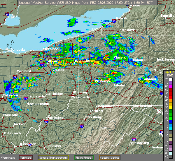 Radar Image for Severe Thunderstorms near Cherry Valley, PA at 3/28/2020 2:02 PM EDT
