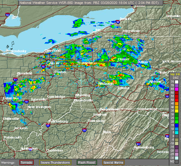 Radar Image for Severe Thunderstorms near South Canal, OH at 3/28/2020 2:09 PM EDT