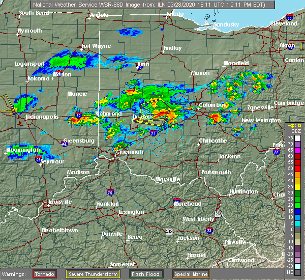 Radar Image for Severe Thunderstorms near Springfield, OH at 3/28/2020 2:20 PM EDT