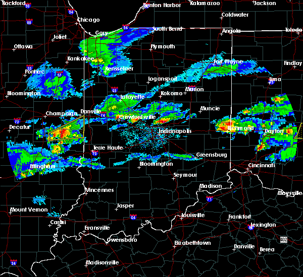 Radar Image for Severe Thunderstorms near Ridge Farm, IL at 3/28/2020 1:35 PM CDT