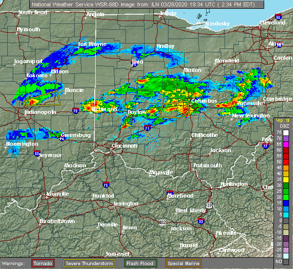 Radar Image for Severe Thunderstorms near Pickerington, OH at 3/28/2020 2:42 PM EDT