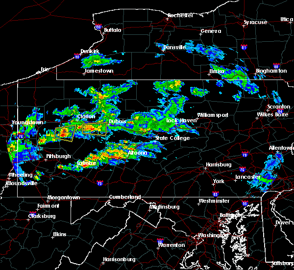 Radar Image for Severe Thunderstorms near Brookville, PA at 3/28/2020 3:21 PM EDT