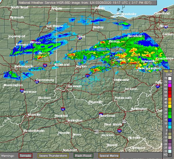 Radar Image for Severe Thunderstorms near Glenford, OH at 3/28/2020 3:23 PM EDT