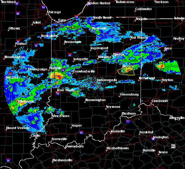 Radar Image for Severe Thunderstorms near Farmland, IN at 3/28/2020 3:31 PM EDT
