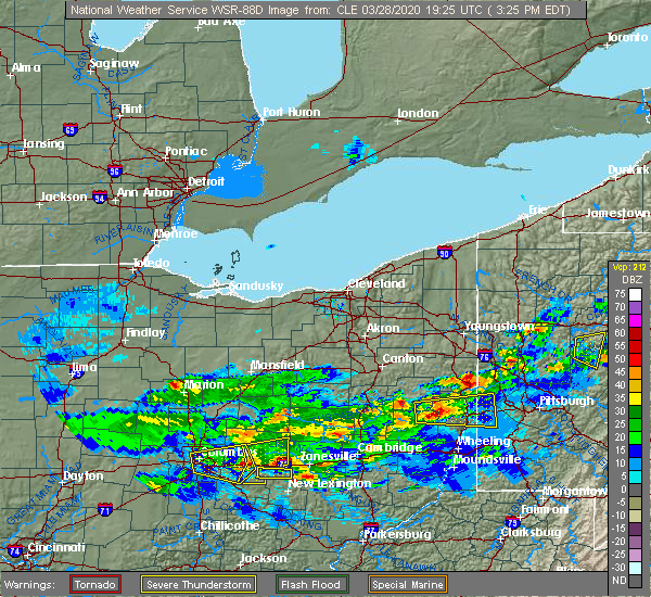Radar Image for Severe Thunderstorms near Trinway, OH at 3/28/2020 3:32 PM EDT