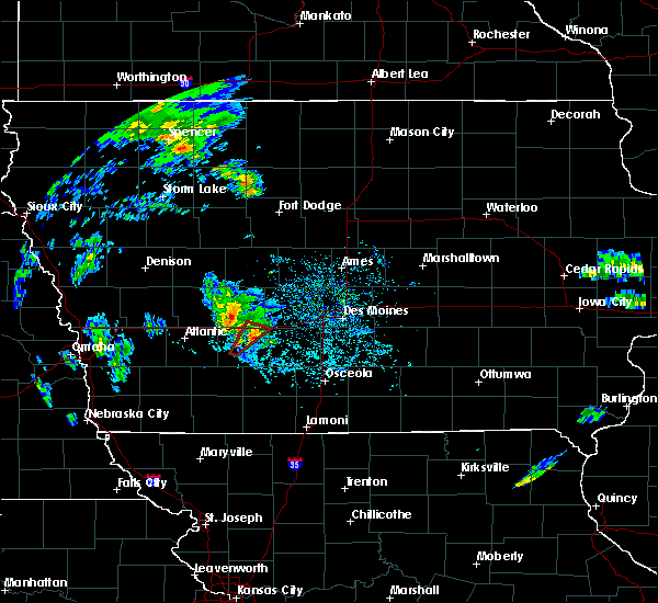 Radar Image for Severe Thunderstorms near Stuart, IA at 3/28/2020 2:37 PM CDT