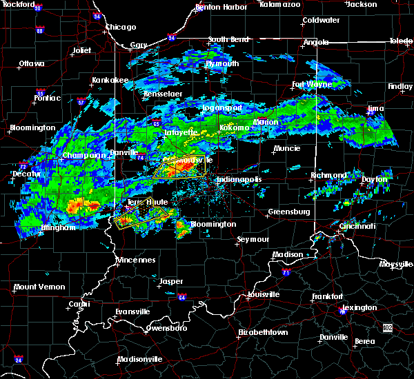 Radar Image for Severe Thunderstorms near Indianapolis, IN at 3/28/2020 4:16 PM EDT