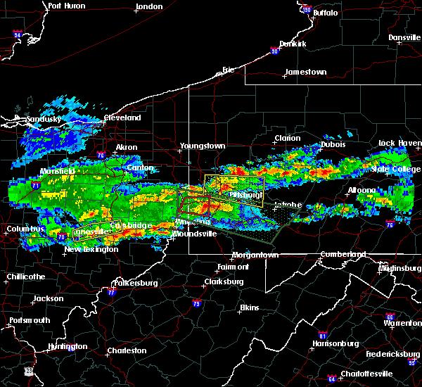 Radar Image for Severe Thunderstorms near Bridgeport, OH at 3/28/2020 4:17 PM EDT