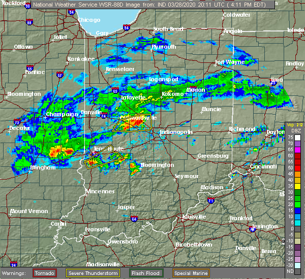 Radar Image for Severe Thunderstorms near Paris, IL at 3/28/2020 3:19 PM CDT