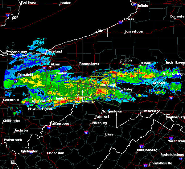 Radar Image for Severe Thunderstorms near Cheswick, PA at 3/28/2020 4:33 PM EDT
