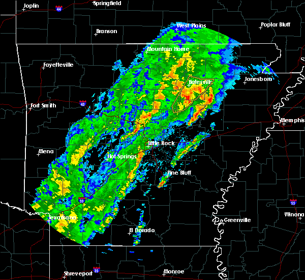 Radar Image for Severe Thunderstorms near Batesville, AR at 3/28/2020 3:38 PM CDT