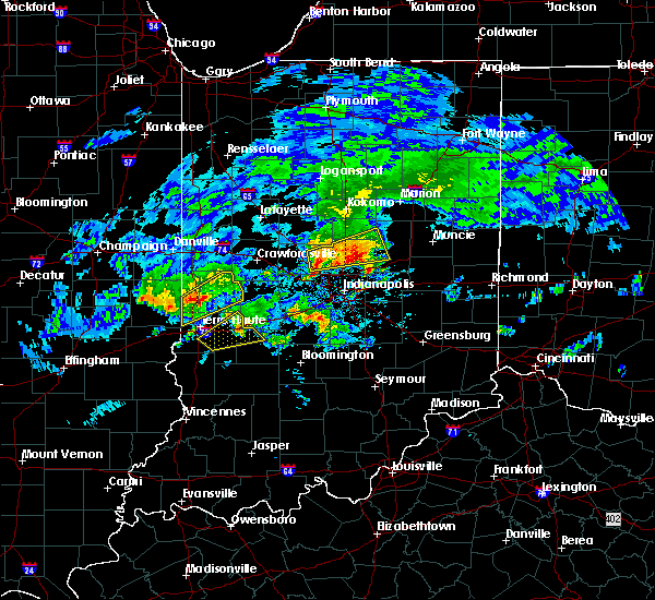 Radar Image for Severe Thunderstorms near River Forest, IN at 3/28/2020 4:45 PM EDT