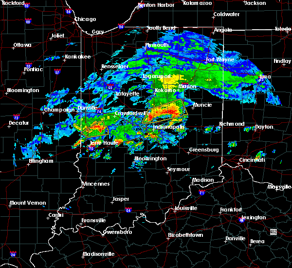 Radar Image for Severe Thunderstorms near Indianapolis, IN at 3/28/2020 4:56 PM EDT
