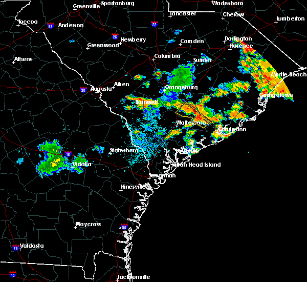 Radar Image for Severe Thunderstorms near Lincolnville, SC at 6/25/2015 12:14 AM EDT