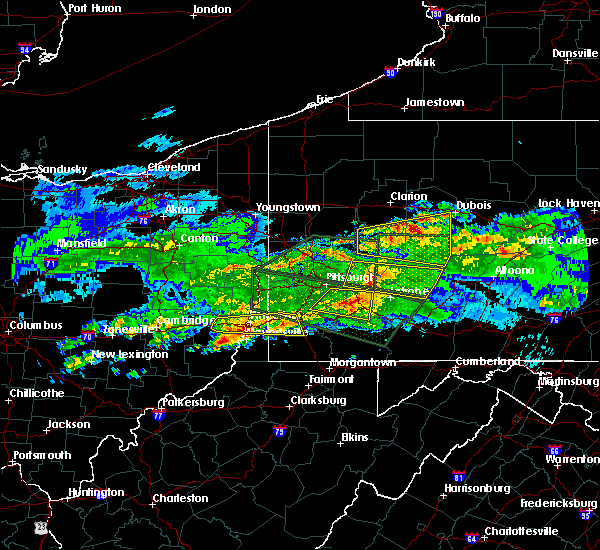 Radar Image for Severe Thunderstorms near Sutersville, PA at 3/28/2020 4:57 PM EDT