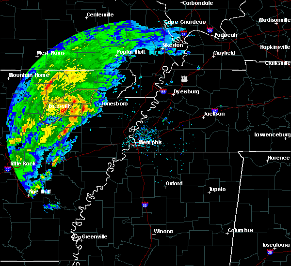 Radar Image for Severe Thunderstorms near College City, AR at 3/28/2020 3:58 PM CDT