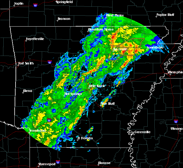 Radar Image for Severe Thunderstorms near Amagon, AR at 3/28/2020 4:02 PM CDT