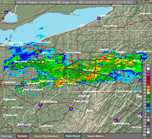 Radar Image for Severe Thunderstorms near Pleasant View, PA at 3/28/2020 5:04 PM EDT