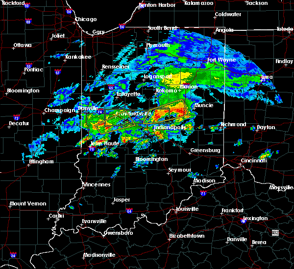 Radar Image for Severe Thunderstorms near Indianapolis, IN at 3/28/2020 5:05 PM EDT