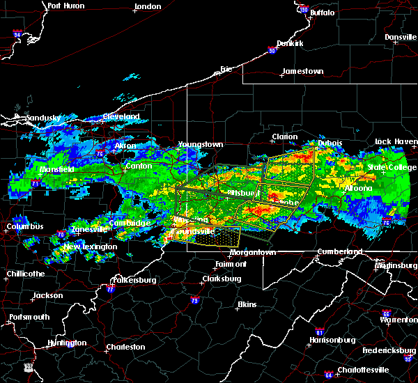 Radar Image for Severe Thunderstorms near Deemston, PA at 3/28/2020 5:07 PM EDT