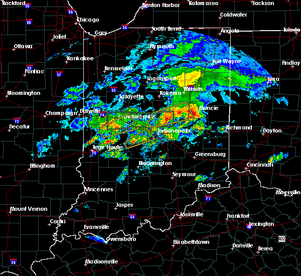 Radar Image for Severe Thunderstorms near Farmland, IN at 3/28/2020 5:13 PM EDT