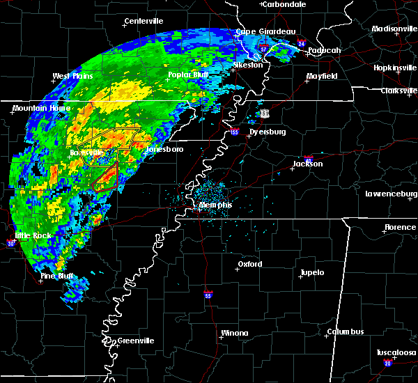 Radar Image for Severe Thunderstorms near Amagon, AR at 3/28/2020 4:17 PM CDT