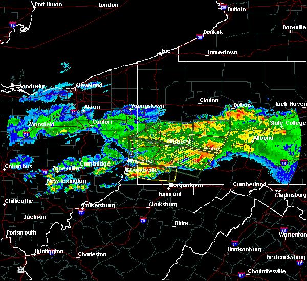 Radar Image for Severe Thunderstorms near Bolivar, PA at 3/28/2020 5:20 PM EDT