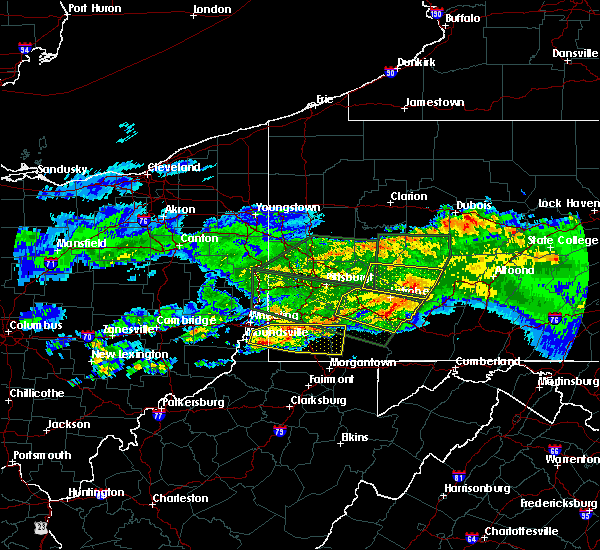 Radar Image for Severe Thunderstorms near Seven Springs, PA at 3/28/2020 5:20 PM EDT