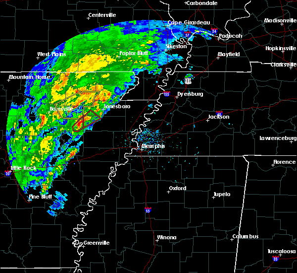 Radar Image for Severe Thunderstorms near Amagon, AR at 3/28/2020 4:28 PM CDT