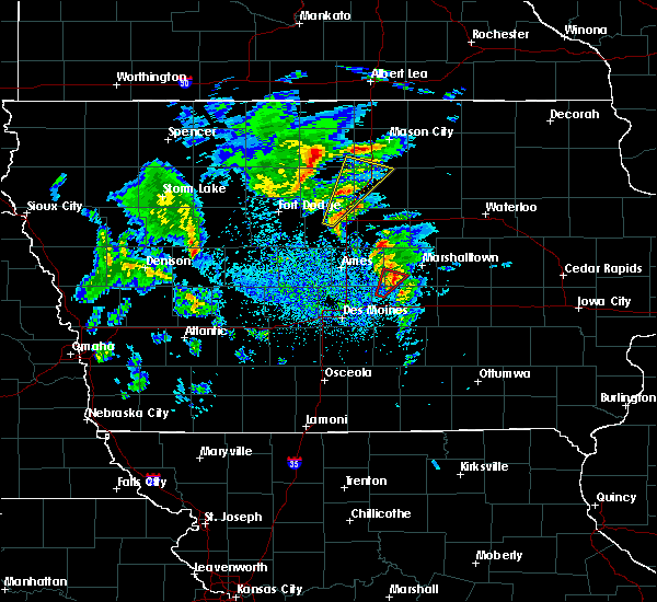 Radar Image for Severe Thunderstorms near Melbourne, IA at 3/28/2020 4:30 PM CDT