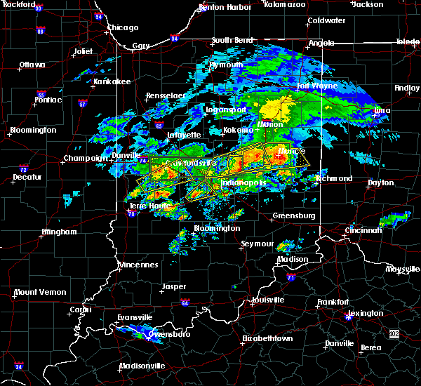 Radar Image for Severe Thunderstorms near Indianapolis, IN at 3/28/2020 5:29 PM EDT