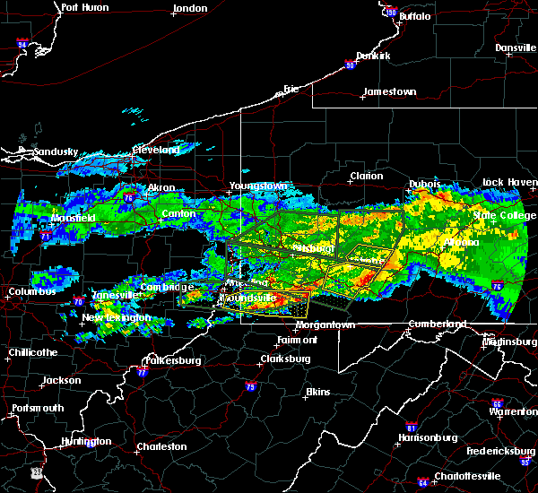 Radar Image for Severe Thunderstorms near Seven Springs, PA at 3/28/2020 5:31 PM EDT