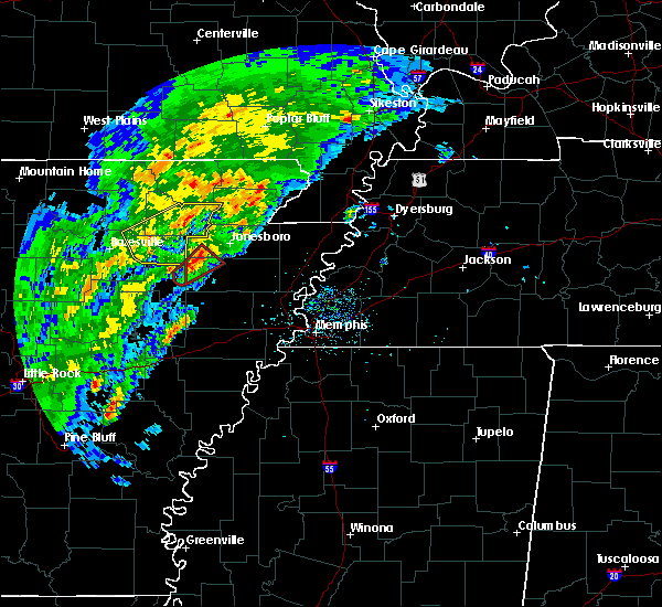 Radar Image for Severe Thunderstorms near Amagon, AR at 3/28/2020 4:40 PM CDT