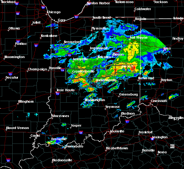 Radar Image for Severe Thunderstorms near Lynn, IN at 3/28/2020 5:40 PM EDT
