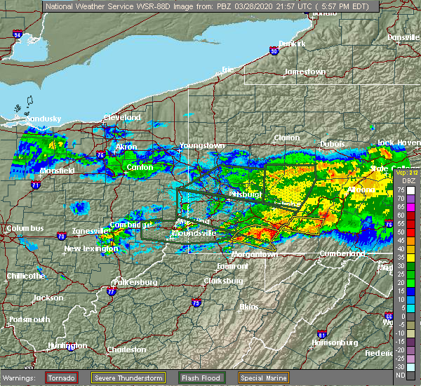 Radar Image for Severe Thunderstorms near Farmington, PA at 3/28/2020 5:59 PM EDT