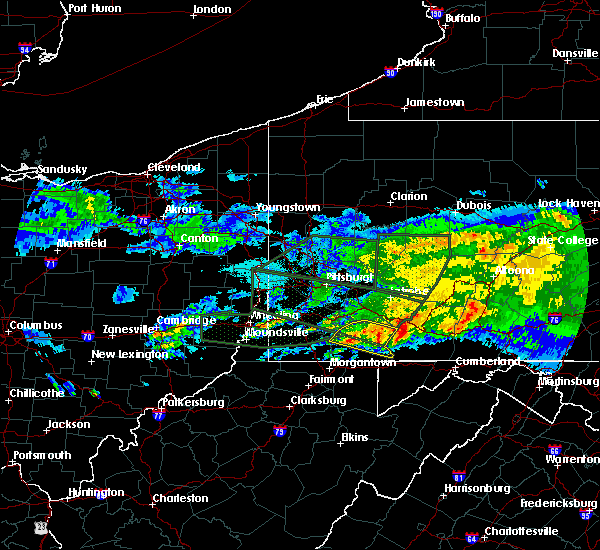 Radar Image for Severe Thunderstorms near Farmington, PA at 3/28/2020 6:09 PM EDT