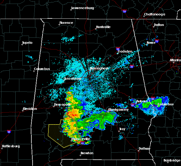 Radar Image for Severe Thunderstorms near Vredenburgh, AL at 6/24/2015 11:31 PM CDT