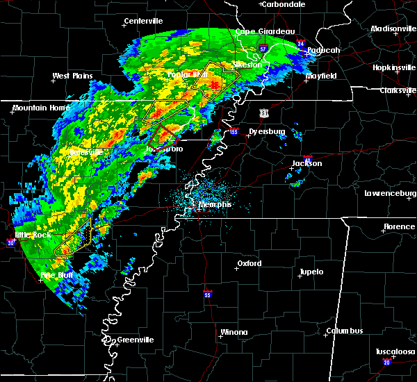 Radar Image for Severe Thunderstorms near Cardwell, MO at 3/28/2020 5:28 PM CDT