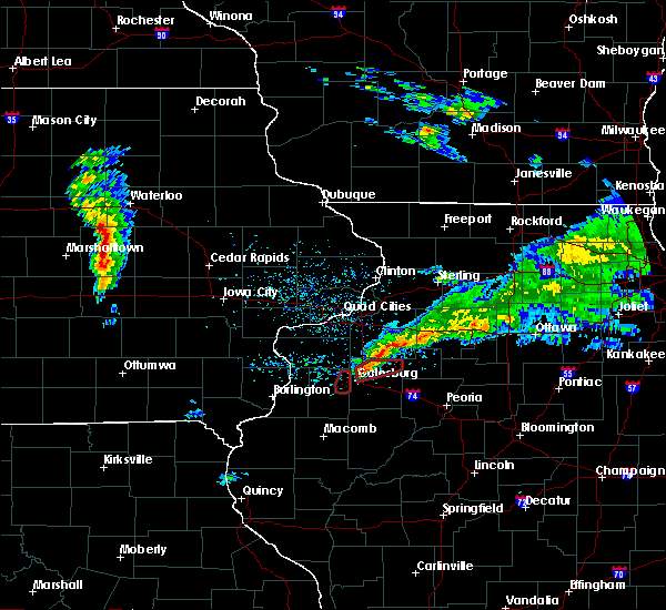 Radar Image for Severe Thunderstorms near Kewanee, IL at 3/28/2020 5:32 PM CDT