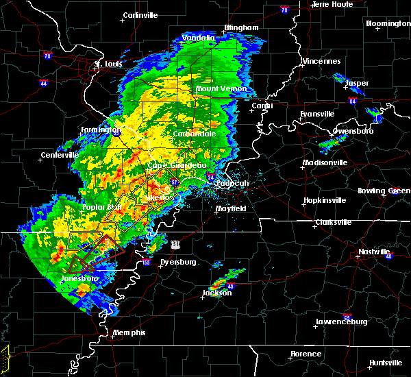 Radar Image for Severe Thunderstorms near Mound City, IL at 3/28/2020 5:53 PM CDT