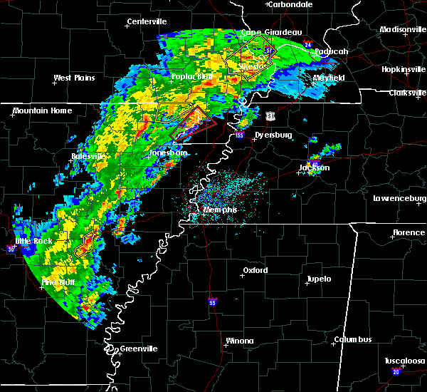 Radar Image for Severe Thunderstorms near Delaplaine, AR at 3/28/2020 5:54 PM CDT