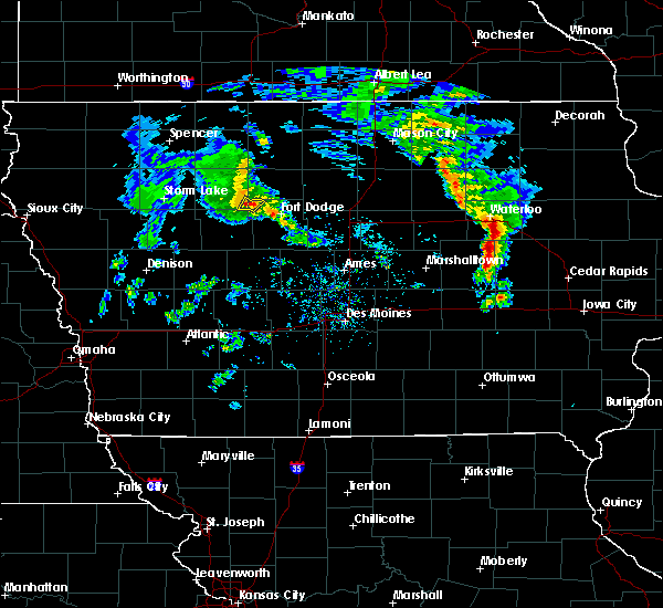 Radar Image for Severe Thunderstorms near Clare, IA at 3/28/2020 5:57 PM CDT