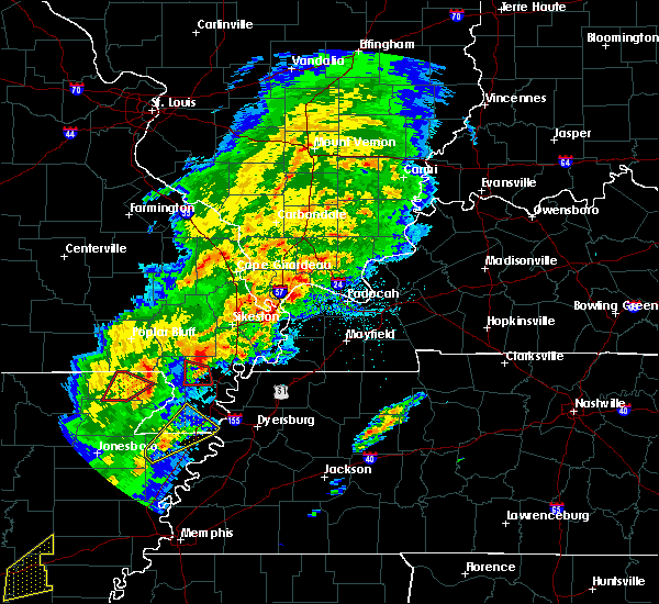 Radar Image for Severe Thunderstorms near Portageville, MO at 3/28/2020 6:21 PM CDT