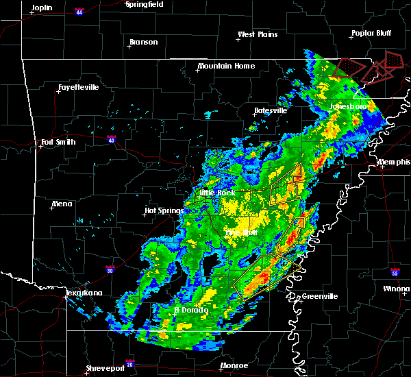Radar Image for Severe Thunderstorms near Watson, AR at 3/28/2020 6:24 PM CDT