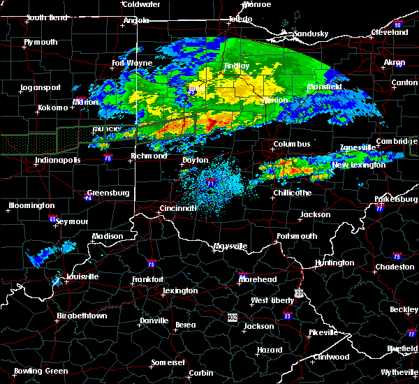 Radar Image for Severe Thunderstorms near Lewistown, OH at 3/28/2020 7:25 PM EDT